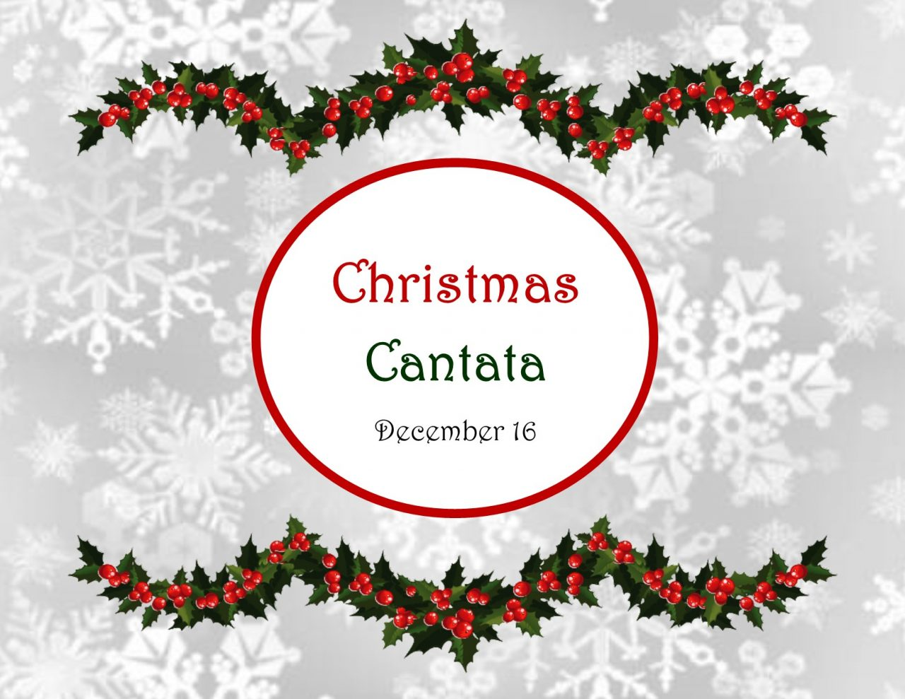 2018 Rosedale Baptist Church Christmas Cantata will be on Sunday, December 16!